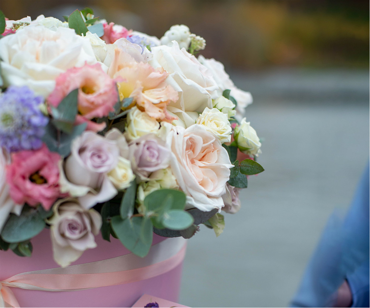 Коробка с цветами 27
