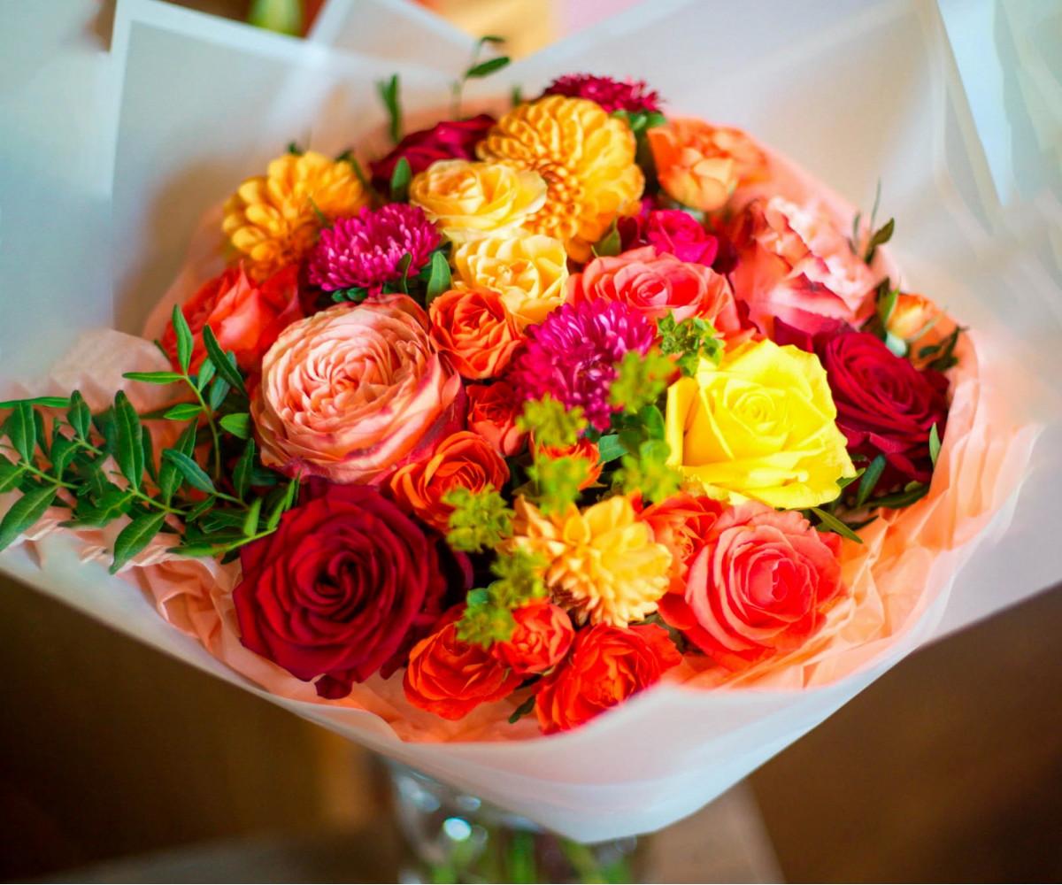 Авторский букет цветов 4