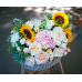 "Корзина с цветами ""Ванильное чудо"""